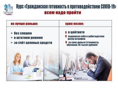 «Гражданская готовность к противодействию COVID-19» на образовательной платформе «Университет Россия РФ»