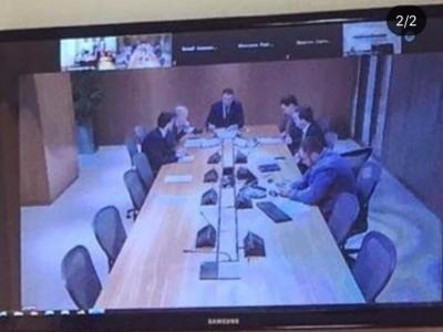 Минпромэнерго ЧР принято участие в совещании в формате видео конференцсвязи.